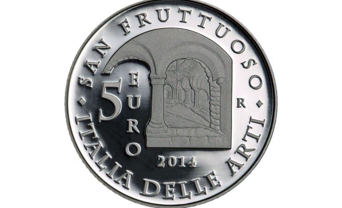 Valore moneta da 5 euro San Fruttuoso, Liguria Serie Italia delle Arti