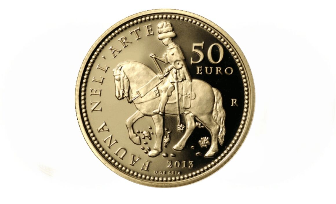 Costo e caratteristiche della moneta da 50 euro Rinascimento Serie Fauna nell'Arte