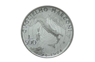 Valore moneta da 500 Lire Guglielmo Marconi