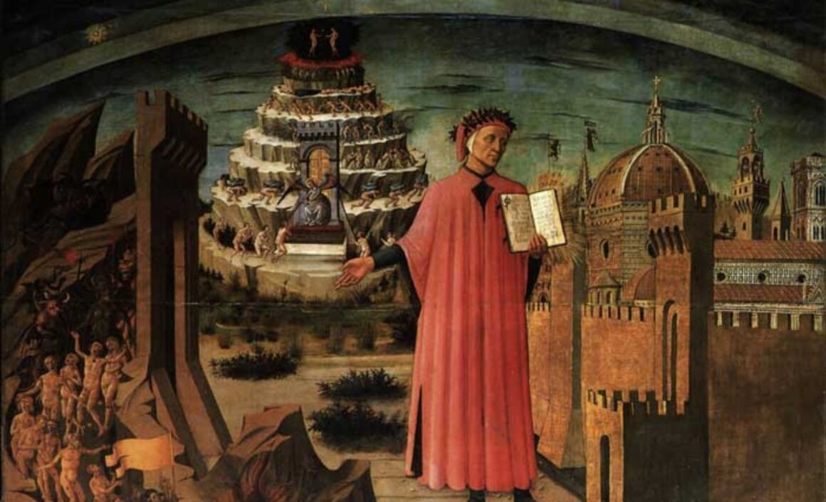 Trittico francobolli Dante Alighieri