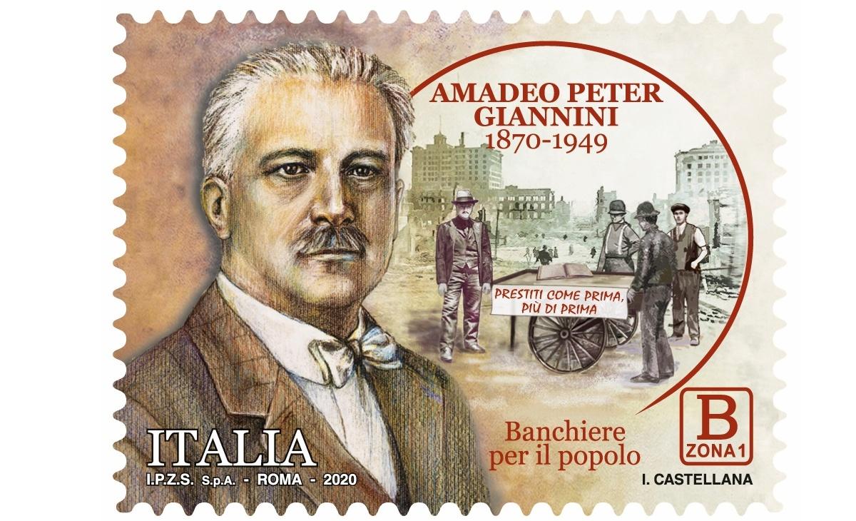 Caratteristiche Francobollo Amedeo Peter Giannini