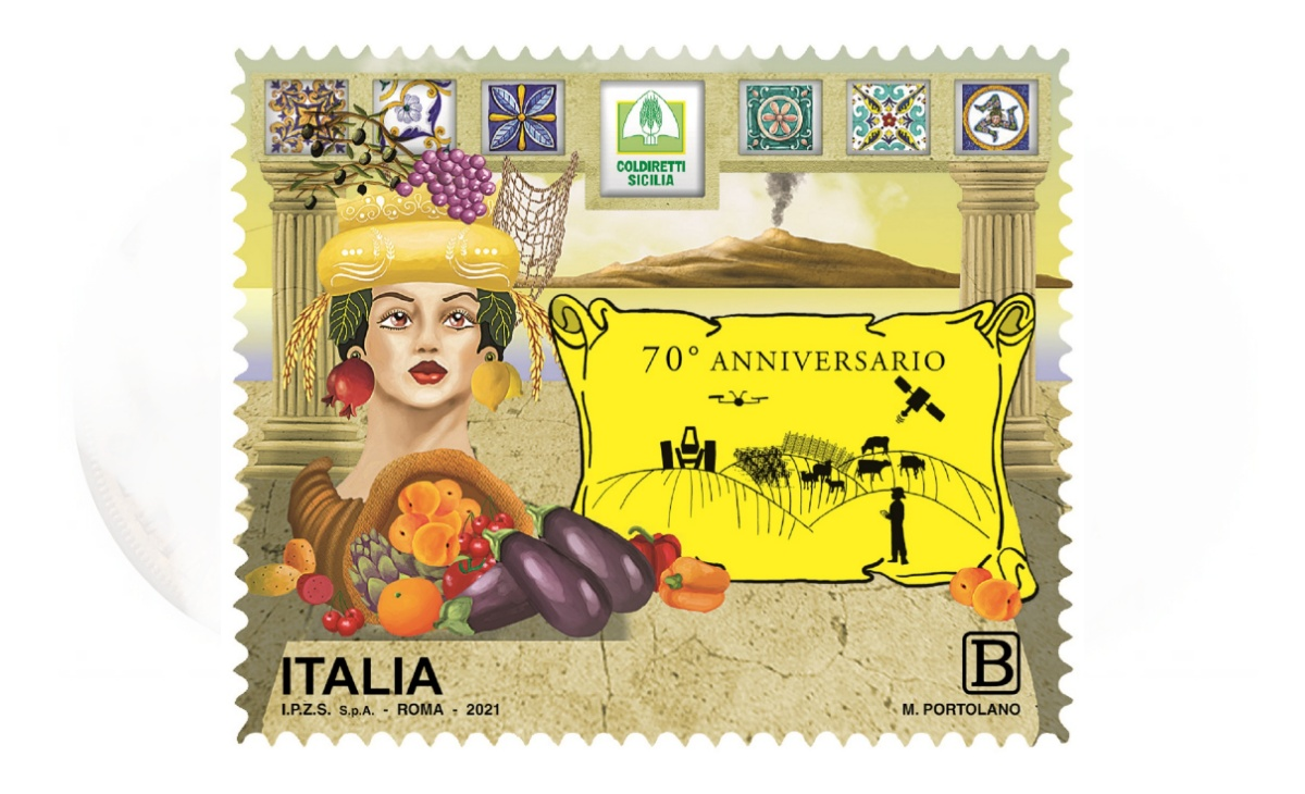 Caratteristiche del Francobollo Federazione Regionale Coldiretti Sicilia