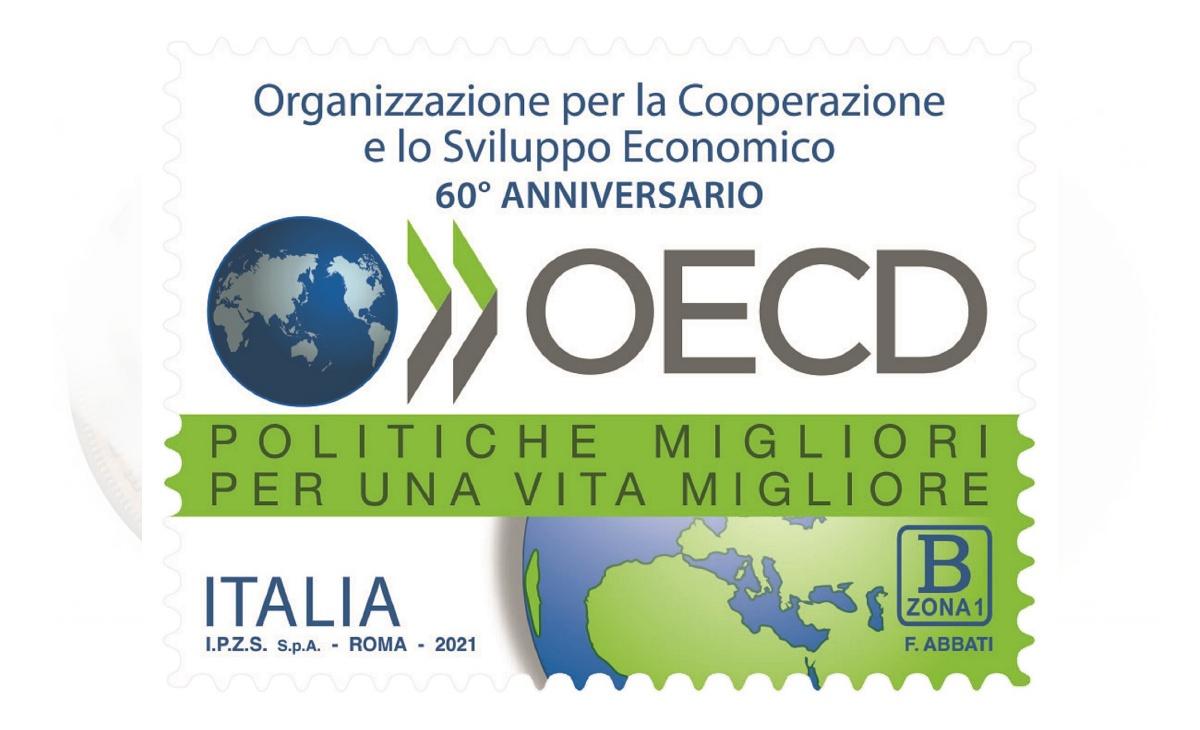 Caratteristiche del Francobollo Organizzazione per la Cooperazione e lo Sviluppo Economico