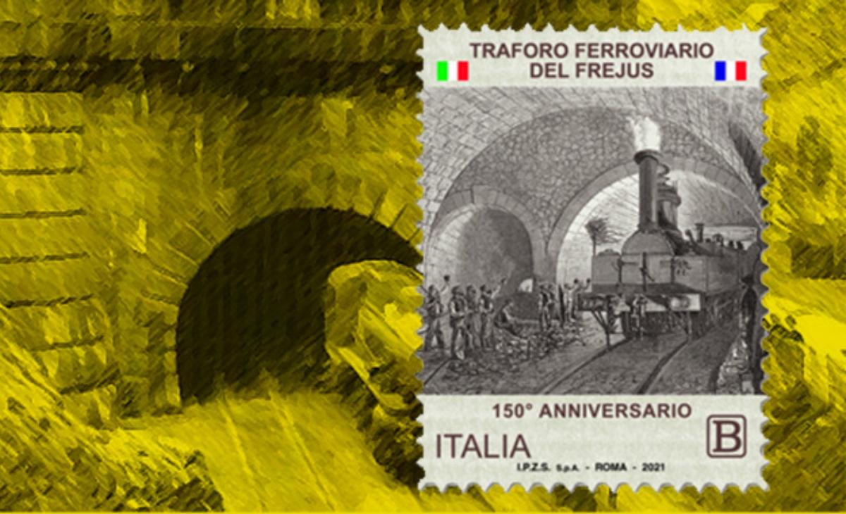 Caratteristiche del francobollo Traforo ferroviario del Frejus