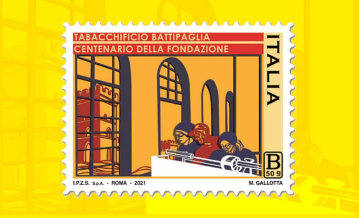 Francobollo centenario Tabacchificio di Battipaglia