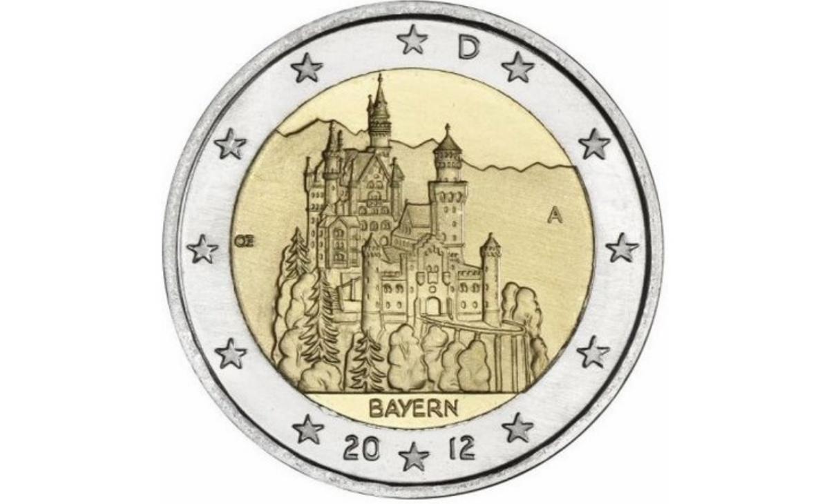 Valore moneta da 2 Euro Bayern Germania 2012