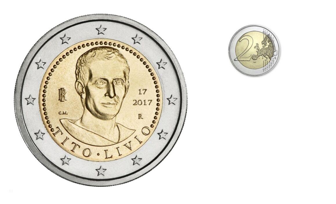 Valore moneta da 2 euro Bimillenario della morte di Tito Livio
