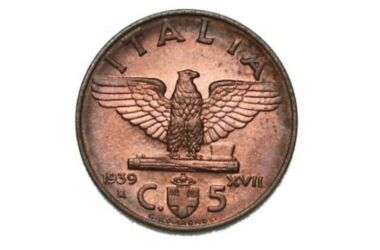 Valore moneta da 5 Centesimi Vittorio Emanuele III Impero