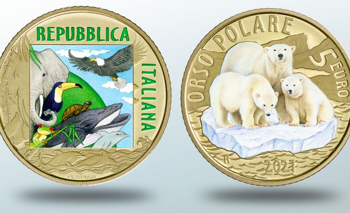Caratteristiche e prezzo della moneta da 5 Euro Orso Polare