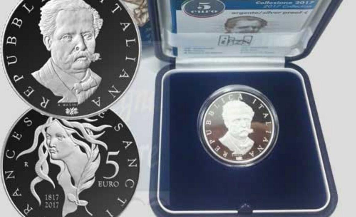 Prezzo moneta da 5 euro 200° Anniversario della nascita di Francesco De Sanctis