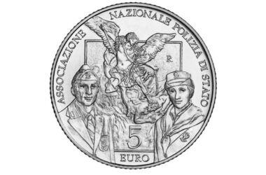 Caratteristiche e valore della moneta da 5 euro 50° Anniversario della nascita dell'Associazione Nazionale Polizia di Stato