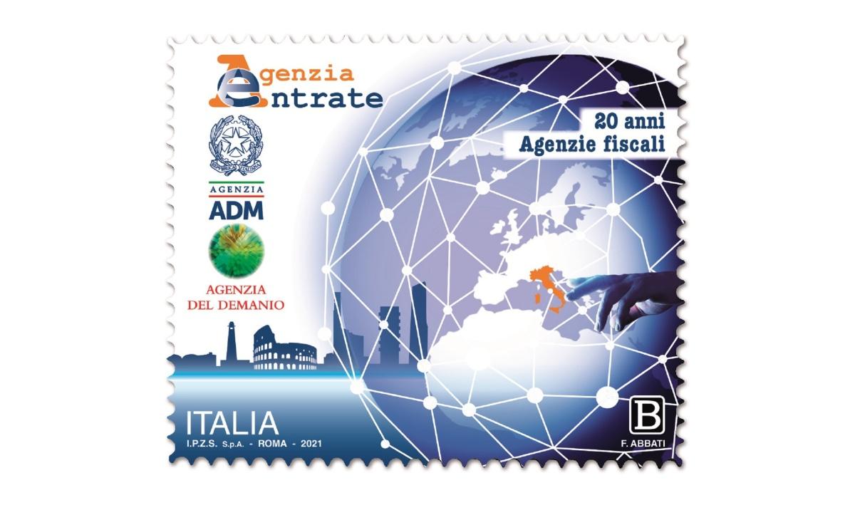 Caratteristiche francobollo Agenzie Fiscali