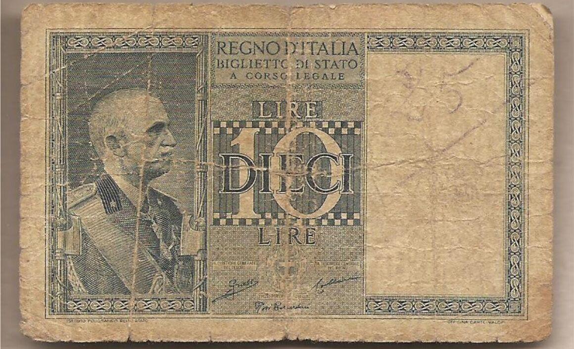 Valore banconota da 10 Lire Impero